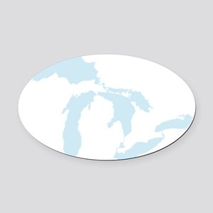 Great_Lakes_Lgt_Blu_15.35_x_15.35 Oval Car Magnet