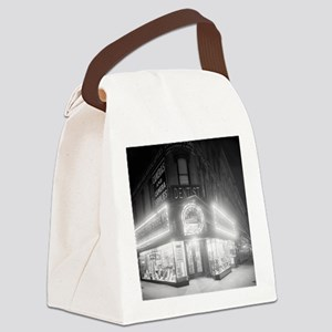 Corner Store At Night Canvas Lunch Bag