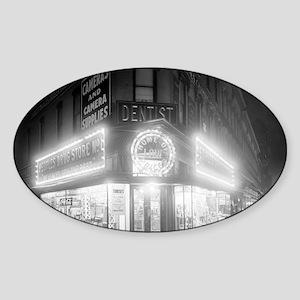 Corner Store At Night Sticker (Oval)