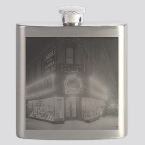Corner Store At Night Flask
