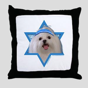 Hanukkah Star of David - Maltese Throw Pillow
