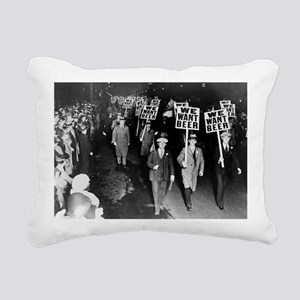 We Want Beer! Prohibitio Rectangular Canvas Pillow