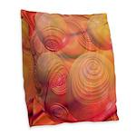 Inner Flow IV Abstract Orange Burlap Throw Pillow