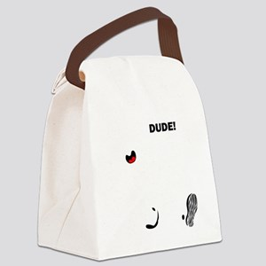 dude-n-1-4blk Canvas Lunch Bag