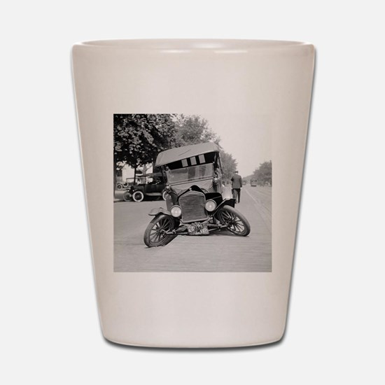 Crashed Ford Model T Shot Glass