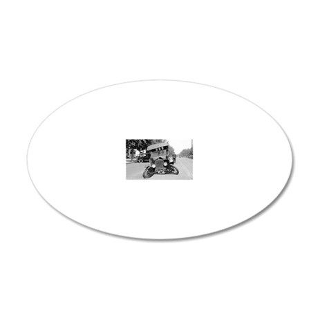 Crashed Ford Model T 20x12 Oval Wall Decal & Model T Ford Wall Decals - CafePress