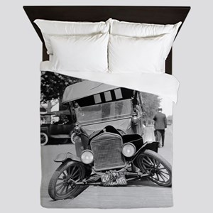 Crashed Ford Model T Queen Duvet