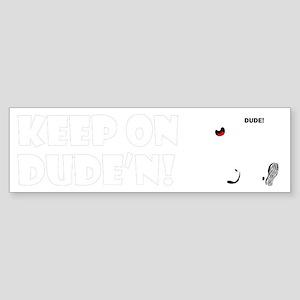 keep-on-1-4blk Sticker (Bumper)