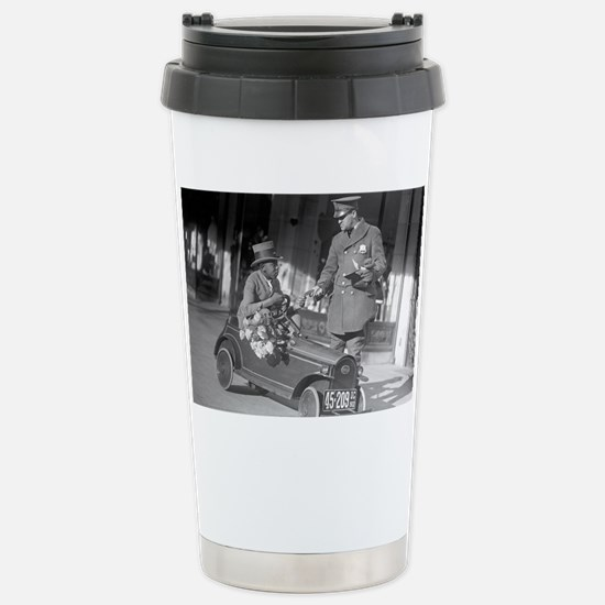 Pedal Car Traffic Stop Stainless Steel Travel Mug