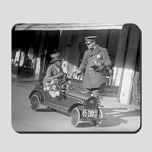 Pedal Car Traffic Stop Mousepad
