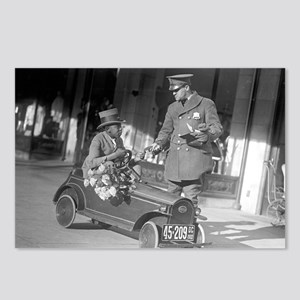 Pedal Car Traffic Stop Postcards (Package of 8)