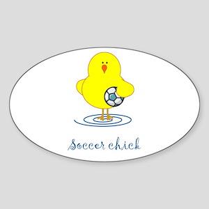 Soccer Chicks Oval Sticker
