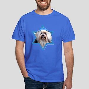 Hanukkah Star of David - Lowchen Dark T-Shirt