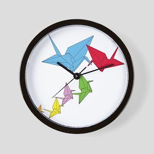 Origami Family Wall Clock