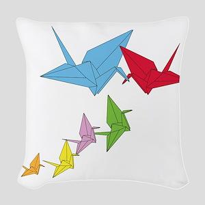 Origami Family Woven Throw Pillow