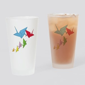 Origami Family Drinking Glass