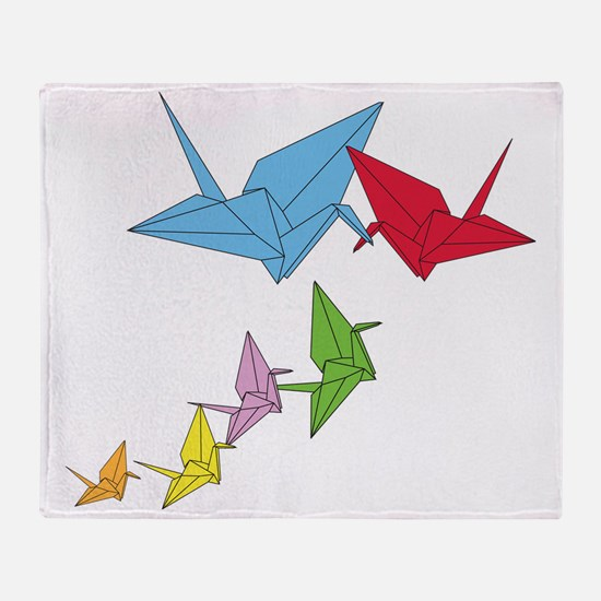 Origami Family Throw Blanket
