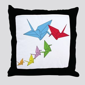 Origami Family Throw Pillow