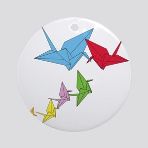 Origami Family Round Ornament