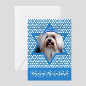 Hanukkah Star of David - Lowchen Greeting Card