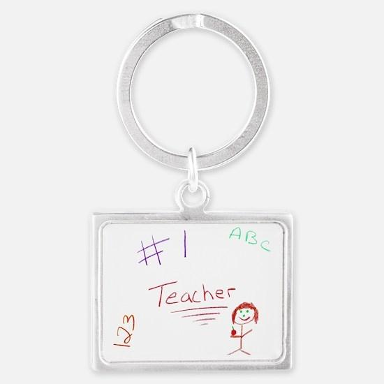 2-CKA-2-MP  #1 Teacher Landscape Keychain