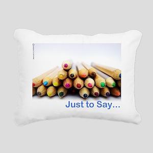 Pencil Notecard Rectangular Canvas Pillow