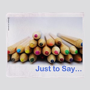 Pencil Notecard Throw Blanket