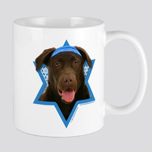 Hanukkah Star of David - Choc Lab Mug