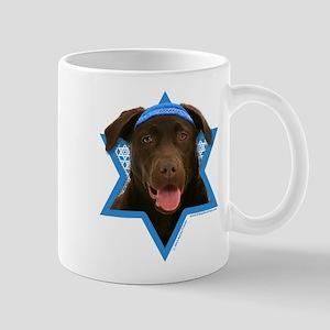 Hanukkah Star of David - Choc Lab Mug