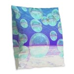 Frosty Clarity, Abstract Burlap Throw Pillow