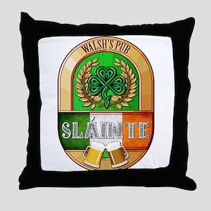 Walsh's Irish Pub Throw Pillow