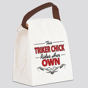 This Triker Chick Rides Her Own Canvas Lunch Bag