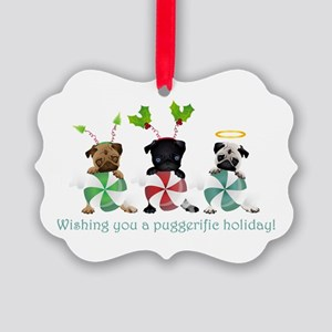 Have A Puggerific Holiday Picture Ornament