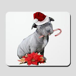 Christmas Pitbull puppy Mousepad