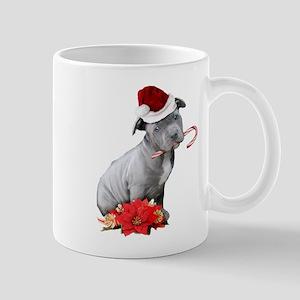 Christmas Pitbull puppy Mugs