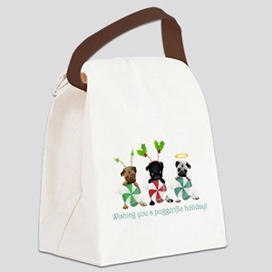 Have A Puggerific Holiday Canvas Lunch Bag