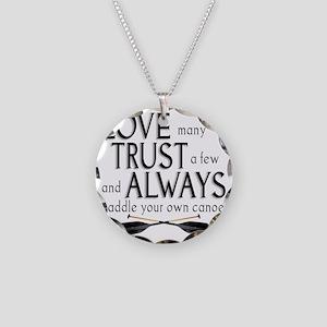 love many Necklace Circle Charm