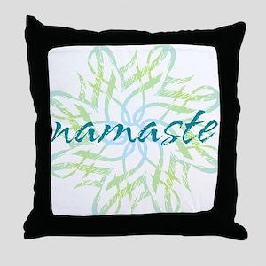 namaste_cool_trnspt_logo Throw Pillow