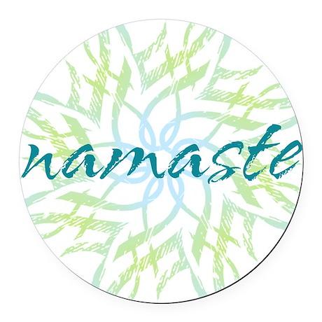 namaste_cool_trnspt_logo Round Car Magnet