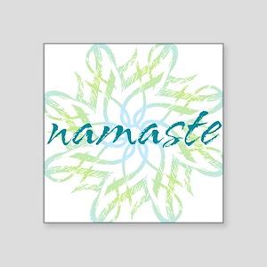"namaste_cool_trnspt_logo Square Sticker 3"" x 3"""