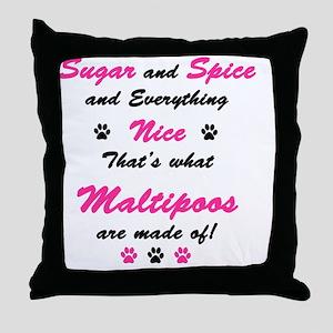 sugar light copy Throw Pillow