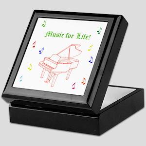 Colorful Piano Music Keepsake Box