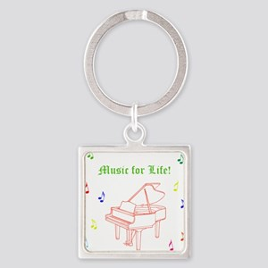 Colorful Piano Music Keychains