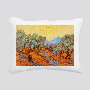 Olive Trees with Yellow Rectangular Canvas Pillow