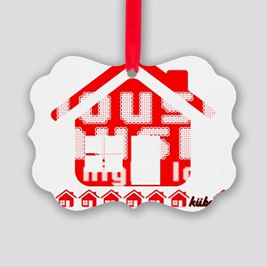 House Music all night long on bla Picture Ornament