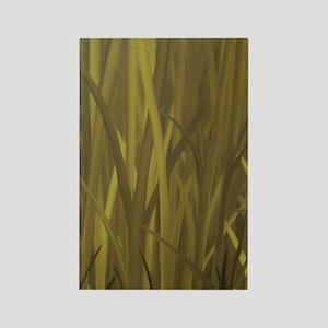 Autumn Grass - oil on canvas FULL Rectangle Magnet