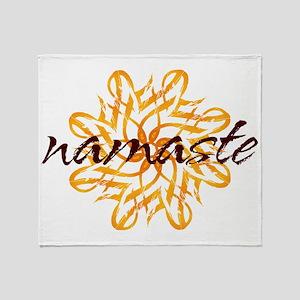 namaste_warm_white Throw Blanket