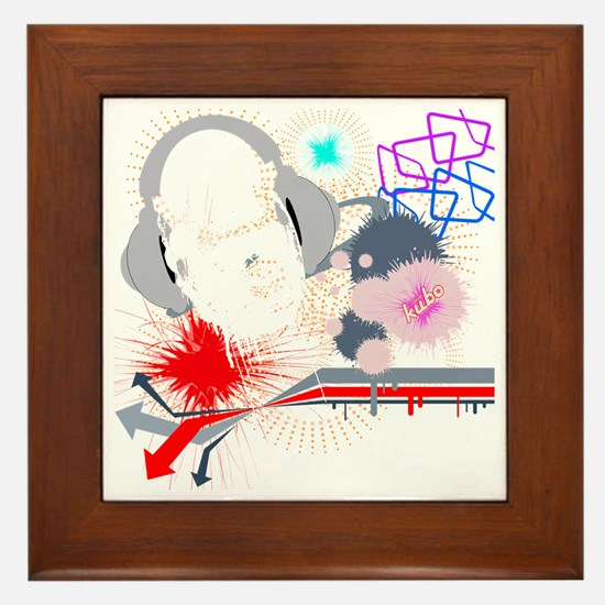Gorilla Sound on black png Framed Tile