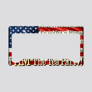 tea party License Plate Holder