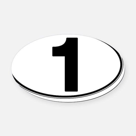 1 Oval Car Magnet